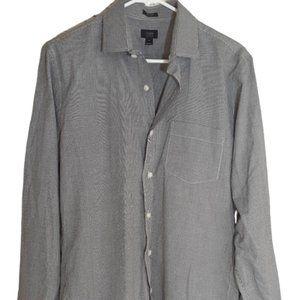 J Crew Ludlow Black White Checkered Button Up Shir
